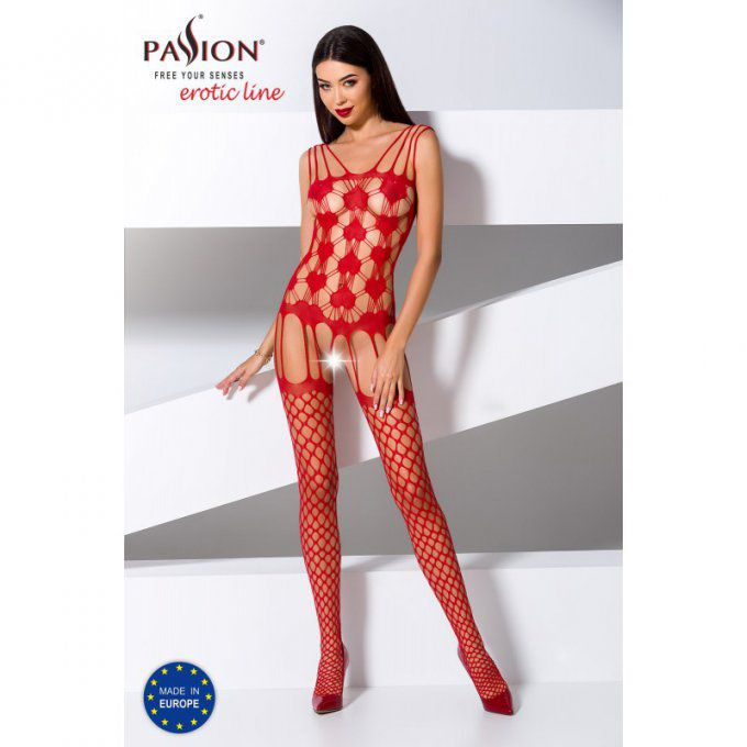 BS067 BODYSTOCKING - ROUGE