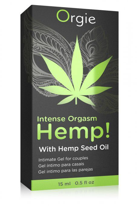 HEMP ! INTENSE ORGASME GEL EXCITATION - CANNABIS