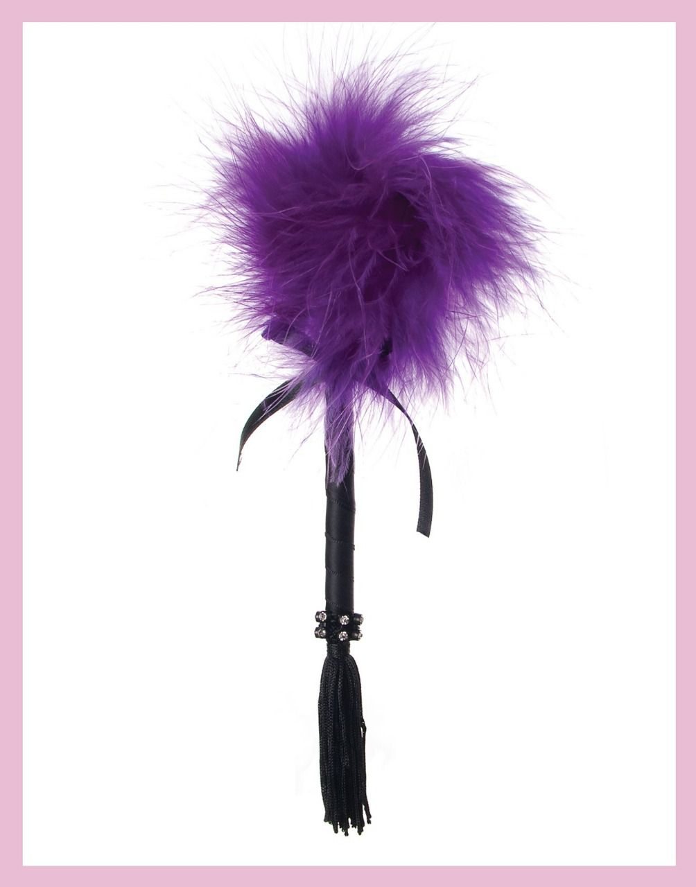 PLUME FOUET VIOLET STRASS